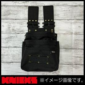 ニックス バリスティック生地チェーンタイプ腰袋 アルミ金具仕様 ブラック BA-301DDX KNICKS CORDURA