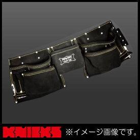ニックス 最高級2x2ポケットレザーツールバッグ釘袋(ベルト一体型) KCA-9505B KNICKS KCA9505B