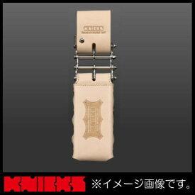 ニックス 総ヌメ革3連結チェーンタイプ鳶レベルホルダー(茶) KNS-100LDX3 KNICKS KNS100LDX3