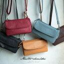 バッグ お財布代わりにも使える便利な多機能ポシェット。多収納マルチミニショルダーバッグレディース/鞄/斜め掛け/お財布ポシェット/合皮/フェイクレザー
