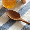 スプーン 優しい口当たりの、ころんとしたかたちで。チークウッドデザートスプーン日用雑貨/キッチン用品/テーブルウェア/カトラリー/木製食器/天然木/ナチュラル/...