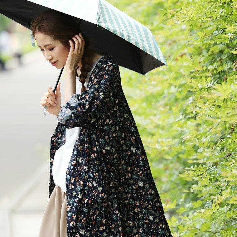 カーディガン M/L/LL/3Lサイズ 雨の日も、私らしく羽織ろう。私のための雨カーディガンレディース/羽織り/撥水加工/レインウェア/ロング/長袖/花柄soulberryオリジナル