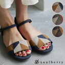 サンダル M/L/LLサイズ シックな配色で、足元のさりげないポイントに。パッチワーク配色サンダルレディース/シューズ/靴/ローヒール/切り替え/スエード調/ス...