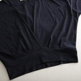 カットソーM/L/LL/3Lサイズふんわりタックの効いたデザインで、女性らしく。裾タックドルマンカットソーレディース/プルオーバー/七分袖/7分袖/トップスsoulberryオリジナル