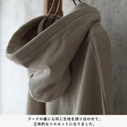 大人のスウェットに必要なのは、『引き算』でした。裾に抜け感ただようパーカー風スウェットプルオーバーM-L/LL-3Lサイズレディース/スエット/フード付き/長袖/ゆったり/トップス