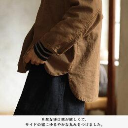 パーカー生まれ、シャツ育ち。とことん私らしいシャツパーカーM/L/LL/3L/4Lサイズレディース/プルオーバー/長袖/コットンリネン/綿麻/フード付き/トップス