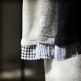 ワンピースM/L/LL/3Lサイズコーデが苦手な人でも、すとんと着るだけで決まる。レイヤード風スウェットワンピースレディース/チュニック/長袖/フード付きsoulberryオリジナル