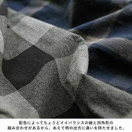 広くて深い、チェックの世界でアソブ。重ね着と羽織りが得意ワザ、秋冬の着こなしが映えるチェック柄ワンピースS/M/L/LL/3L/4Lサイズレディース/羽織り/キーネック/綿/コットン/長袖/ブロックチェック/タータンチェック