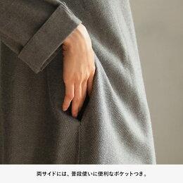 胸にあふれた、シックな気持ち。シックだけどひかえめすぎない刺繍ワンピースワンピースM/L/LL/3L/4Lサイズレディース/長袖/ロング/ゆったり/草花柄