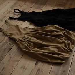 今日も不思議なスイッチを押してくれるはず。女性らしさとメリハリを効かせたエプロンワンピースS/M/L/LL/3L/4Lサイズレディース/ロング/バルーン/タック入り/ポケット付/コットン100%/起毛/袖なし