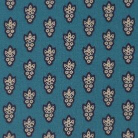 SOULEIADO ソレイアード 生地 ラミネート生地 ラ・プティット・ムーシュ ピーコック ブルー 青 ビニールコーティング ビニコ 小紋柄 テーブルクロス 撥水 ポーチ 小物 バッグ 手芸 ソーイング ハンドメイド プロヴァンス 南仏 南フランス テキスタイル ブランド