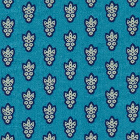 SOULEIADO ソレイアード 生地 シーチング生地 ラ・プティット・ムーシュ ピーコック ブルー 小紋柄 手作り 手芸 ソーイング ハンドメイド ホビー プロヴァンス 南仏 南フランス テキスタイルブランド お洒落 おしゃれ