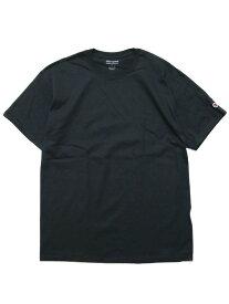 CHAMPION チャンピオン オーセンティック 半袖Tシャツ AUTHENTIC S/S TEE T525C USA企画 メンズ レディース ストリート スポーツ 無地 ワンポイント ロゴ刺繍 ブラック 黒 M L XL XXL