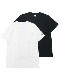 CHAMPION チャンピオン ポケットTシャツ 半袖Tシャツ ポケT BASIC POCKET S/S TEE メンズ ストリート スポーツ ロゴ刺繍 C3-M349 ブラック ホワイト 黒 白 L XL