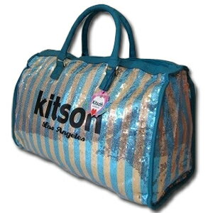 ★あす楽・送料無料★【KITSON】『キットソン』KHB0331 ボストンバッグ(Blue)ブルー【旅行用バッグ】LA本店から直輸入!売り切れ御免!普段のカバンとしても、旅行用ボストンバッグとしてもめちゃくちゃかわいい!