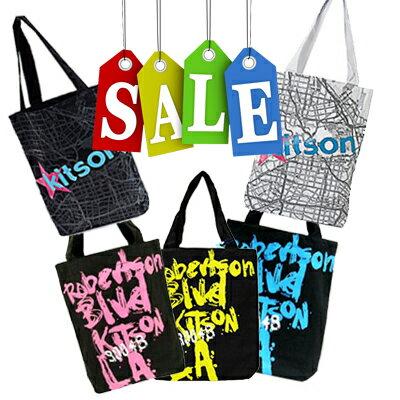 【あす楽】送料無料【KITSON】キットソン キャンバス トート ショッピング バッグ(KHB0156 ,0166 , 0154, 0155)