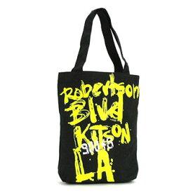 ★あす楽・送料無料★【KITSON】『キットソン』トートバック KHB0154 (ブラック&イエロー) A4サイズ レディース かばん カジュアル エコバッグ