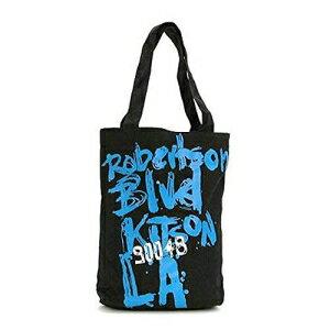 ★あす楽・送料無料★【KITSON】『キットソン』トートバック KHB0155 (ブラック&スカイブルー) A4サイズ レディース かばん カジュアル エコバッグ
