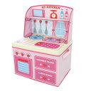 【楽天スーパーSALE特別価格】 ままごと 収納 ボックス (イチゴキッチン)女の子向き 子供部屋 収納 おままごと お…