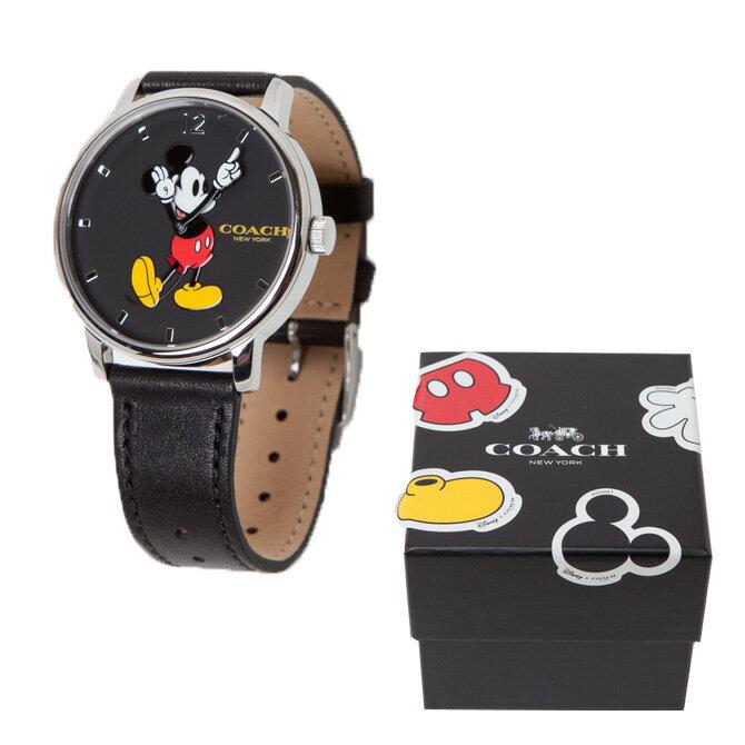 コーチ COACH 時計 レディース腕時計 純正BOX付き COACH X DISNEY ディズニー コラボ ミッキー アナログ時計 w6232 blk