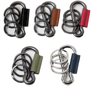 コーチ COACH キーリング(キーホルダー) カラビナ レザー 3リング キーリング f64769 key chain key holder