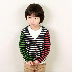 韓国子供服【wittyboy】 (ウィッティーボーイ カーディガン) クレイジーカラーカーディガン【あす楽対応】【ラッピング不可】