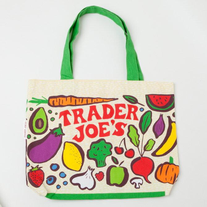 【TRADER JOE'S トレーダージョーズ】エコ トートバッグ☆ 52830メール便でお届け!