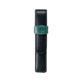 ペリカン Pelikan レザー ペンケース 1本用 TG-12 ブラック×グリーン 15×2.7cm