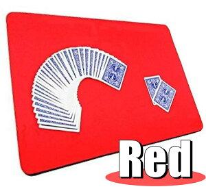 本格派 滑らか クロースアップマット 赤 裏面ラバー 加工 コイン トランプ 手品 マジック マット 滑り止め 付き テーブル マジック 魔術 マジシャン 【送料無料】