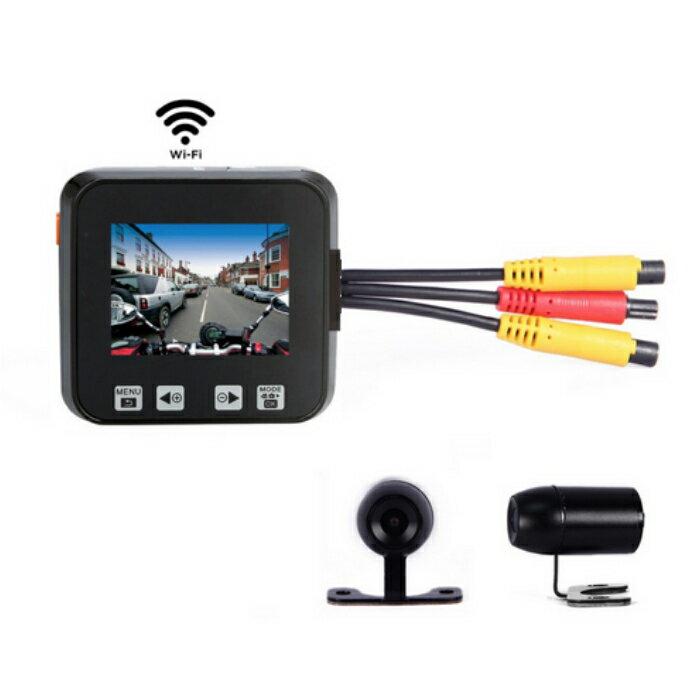 M6 Wi-Fi バイク専用ドライブレコーダー SONYセンサー IMX323搭載 FHD1080P+720P 200万画素 防水前後カメラ 取付簡単 日本語取説あり
