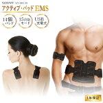 EMS腹筋ベルト(アクティブ14パット)BodyFit2(ボディフィット2)【メーカー純正品[1年保証]