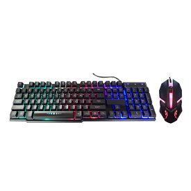ネオンキーボード&マウスセット 光る バックライト パソコン ゲーム