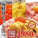 【送料無料】海鮮丼セット生ウニ、ネギトロ、イクラ醤油漬丼や手巻き寿司。海産物をプレゼントにお考えなら海の幸。魚介【あす楽】ワン…