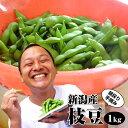 【お中元 ギフト 早割】朝採り手摘み枝豆1kgで3,980円。新潟から産地直送!時期によってえだまめの品種が変わります。贈り物(プレゼント…