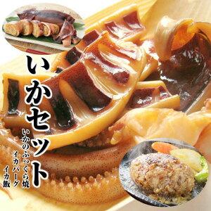 お中元 ギフト【いかめし】【イカバーグ】【いかのふっくら焼】国産いかのイカ焼き 日本海で水揚げされた海産物を贈り物(プレゼント)に。海鮮、魚介の美味しい食べ物【あす楽】【贈