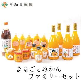 まるごとみかんファミリーセット(R) みかんジュース 100% ゼリー ポン酢 スムージー 送料無料 早和果樹園