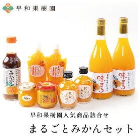 まるごとみかんセット(R) 送料無料 みかんジュース ゼリー スムージー ポン酢 詰め合わせ 内祝 御祝 早和果樹園