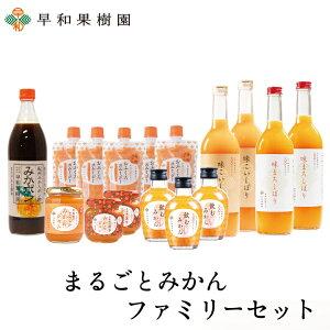 まるごとみかんファミリーセット みかんジュース 100% ゼリー ポン酢 スムージー 送料無料 早和果樹園