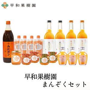 早和果樹園 まんぞくセットR みかんジュース 100% ゼリー ポン酢 スムージー 送料無料 お中元 早和果樹園