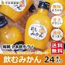 早和果樹園 飲むみかん 200ml×24本入り【送料無料】 ●みかんジュース ストレート 果汁100% 和歌山 有田 温州みかん …