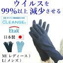 クレンゼ 手袋 メンズ レディース 抗菌 抗ウイルス コロナウイルス対策 日本製 綿100% 洗える M L 大 UV対策 接触予…