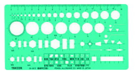 takeda テンプレート 【機械用定規S】 29-0072(製図 製図用品 製図用定規 建築 図面 製図テンプレート 定規 使いやすい 見やすい たけだ TAKEDA タケダ デザイン インク )