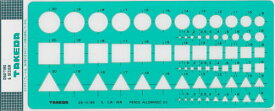 takeda テンプレート 円・三角・四角定規 29-0185 ( 製図 製図用品 製図用定規 建築 図面 製図テンプレート 定規 使いやすい 見やすい たけだ TAKEDA タケダ デザイン インクエッジ )