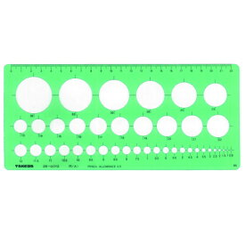 takeda テンプレート 円定規 (大) 直径0.8〜36mm (板寸法) 105×237×1.0mm インクエッジ付き【29-0012】( 製図 製図用品 製図用定規 建築 図面 製図テンプレート 定規 使いやすい 見やすい たけだ TAKEDA タケダ デザイン インクエッジ )