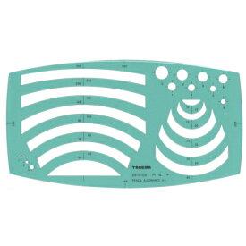 takeda テンプレート 円弧定規 半径1〜500mm(板寸法)125×225×1.0mm インクエッジ付き【29-0102】 ( 製図 製図用品 製図用定規 建築 図面 製図テンプレート 定規 使いやすい 見やすい たけだ TAKEDA タケダ デザイン インクエッジ )