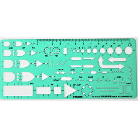 takeda テンプレート 電気回路定規 (板寸法)76×177×1.0mm インクエッジ付き 【29-0158】( テンプレート 電気回路定規 製図 製図用品 製図用定規 建築 図面 製図テンプレート 定規 使いやすい 見やすい たけだ TAKEDA タケダ デザイン インクエッジ )