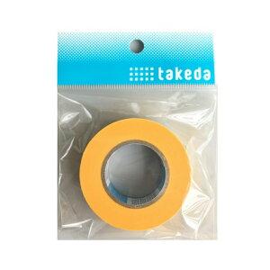 takeda コミックテープ 18mm ( マスキングテープ マスキング テープ 黄色 イエロー はがしやすい 切れにくい 接着 領収書対応可能
