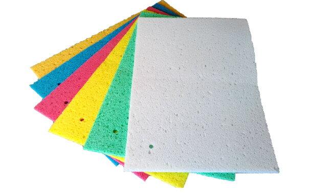 【送料無料】セルロース製キッチン水切りマット 大判サイズ 選べる6色 3枚組 吸湿・速乾性抜群! 水切り 乾燥 スポンジ マット 食器 シンク