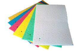 【送料無料】セルロース製キッチン水切りマット 大判サイズ プラスチックフリー 選べる6色 吸湿・速乾性抜群! 水切り 乾燥 スポンジ マット 食器 シンク