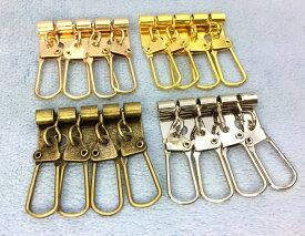 「A4」 キーケース 金具 A 4連 幅34mm 5個入り アンティークゴールド(真鍮古美) ニッケルシルバー ゴールド マットゴールド 四連 厚タイプ キーホルダー